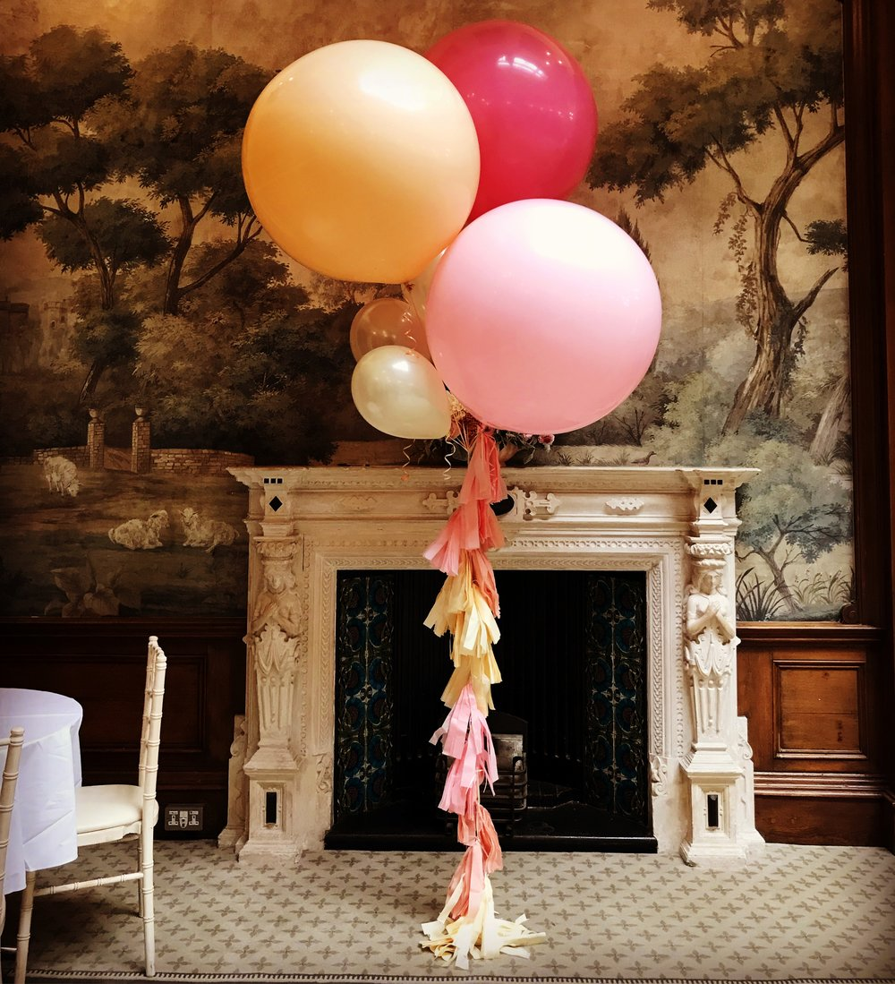 Our Giant Balloons are a very popular choice perfect if you're looking for that Pinterest or Instagram style wedding.