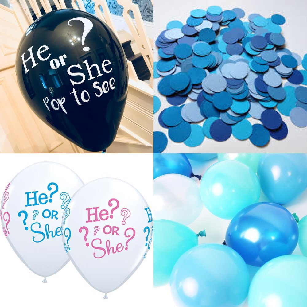 """Gender Reveals  A big trend at the moment. Very popular in the U.S.A Gender reveals are becoming """"the thing"""" in how to announce the sex of your baby. We fill the balloon with confetti and balloons and then when you pop it everyone knows if its a boy or a girl."""