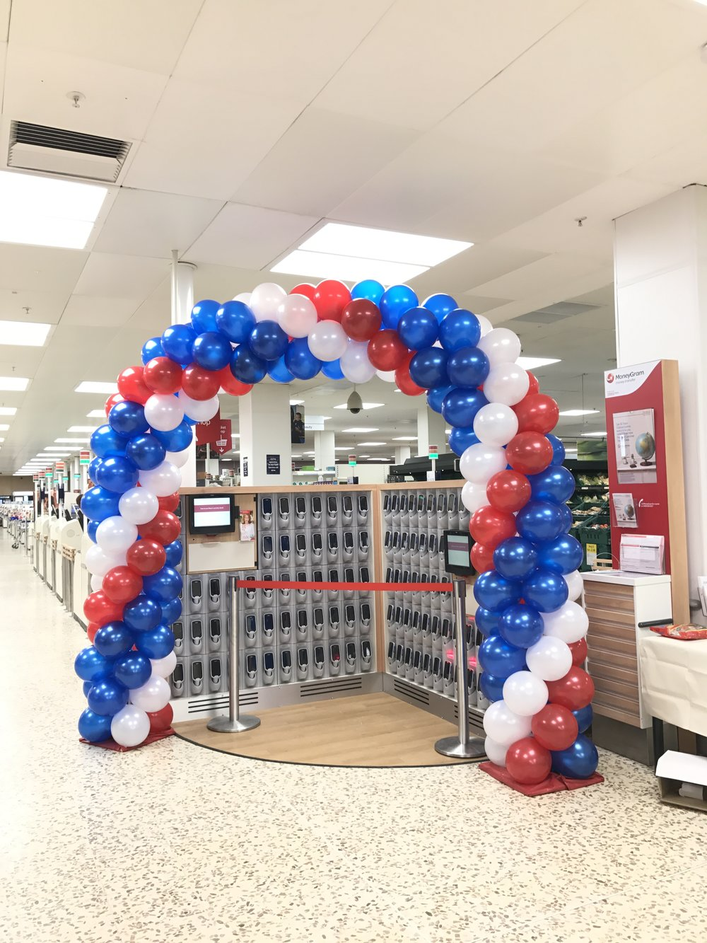 Promotional Balloon Arch for Tesco