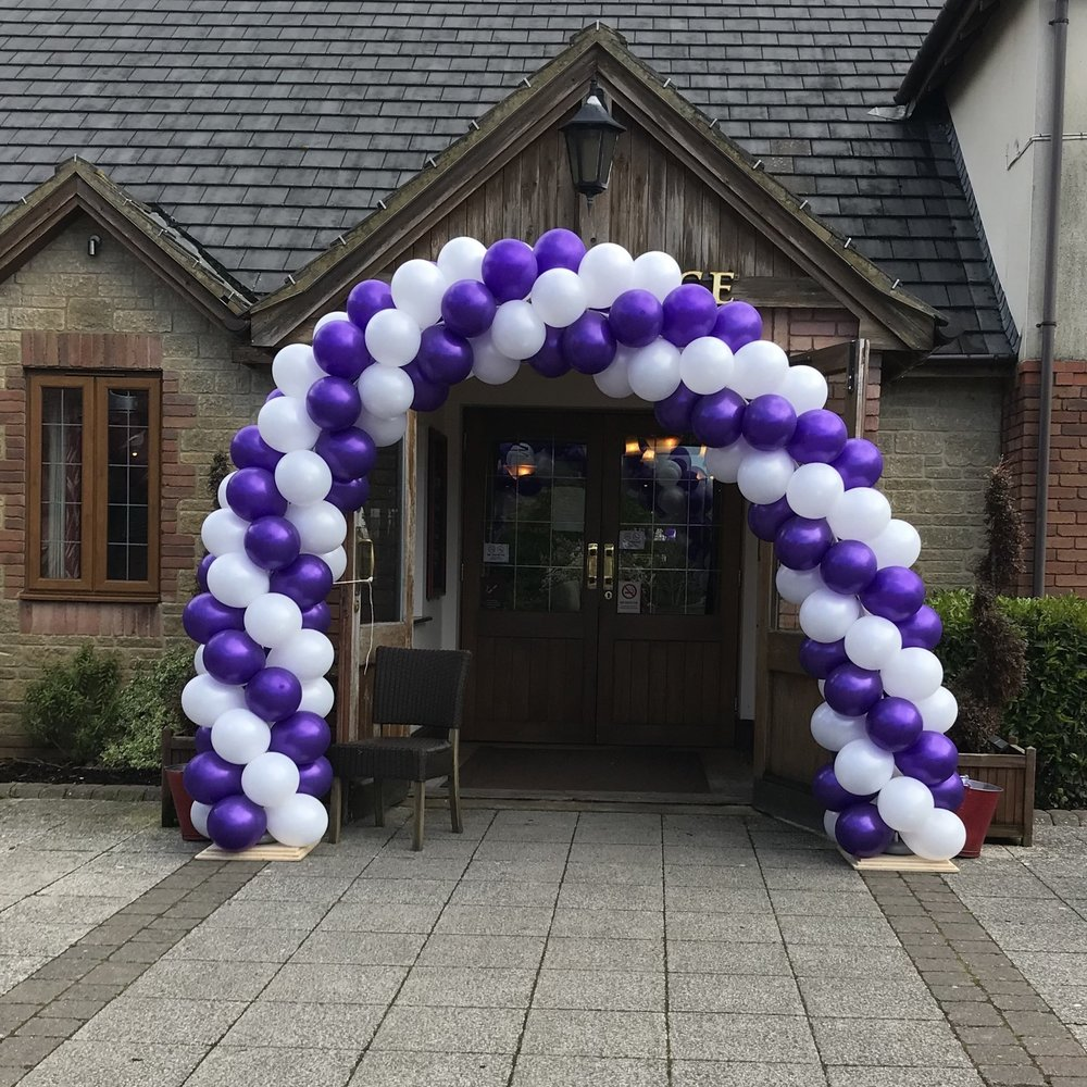 Twisted Balloon Arch for Events and Promotions