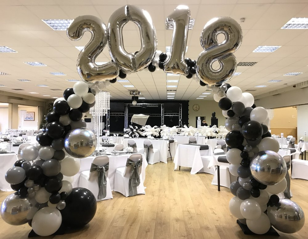 New Years Eve Organic Balloon Arch