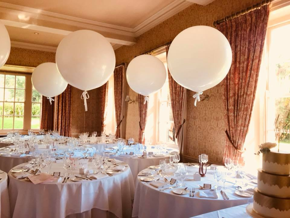 Giant Balloon Package - 10 x Giant Balloons finshed with Satin Bow - Guest tables3 x Giant Balloon Displays for top table£310**delivery charges may apply
