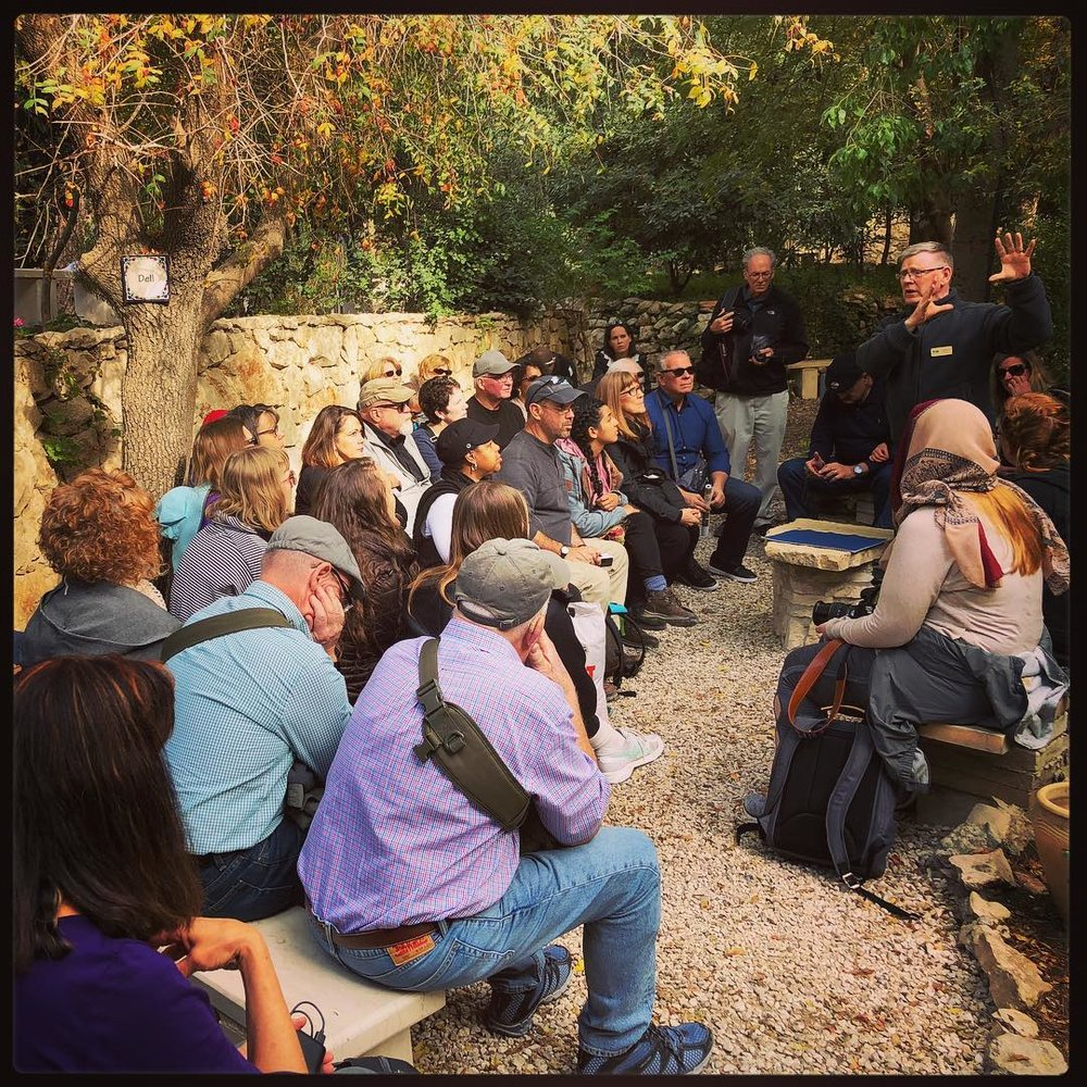 Instruction in the Garden of Gesthsemane.