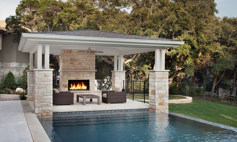 Outdoor Fireplace Lake Austin