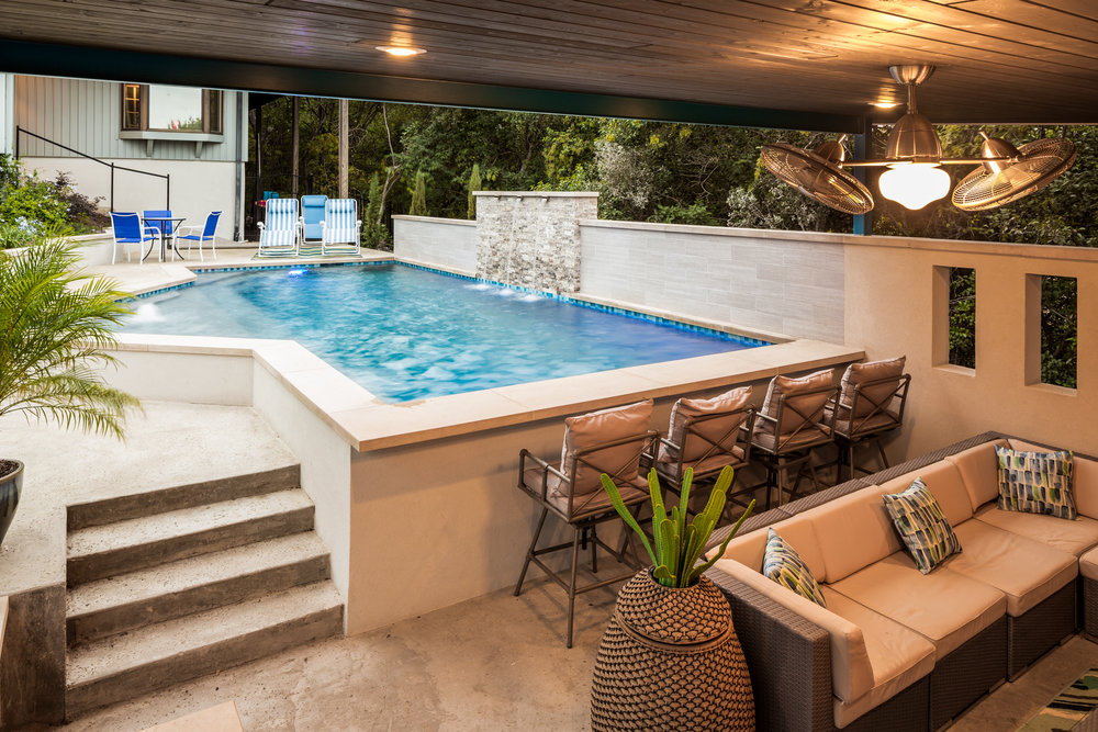This Custom Pool And Outdoor Living Space Project In San Marcos Had To Be  Contemporary To Meet Our Clientu0027s Desire And Style Working Alongside The  More ...
