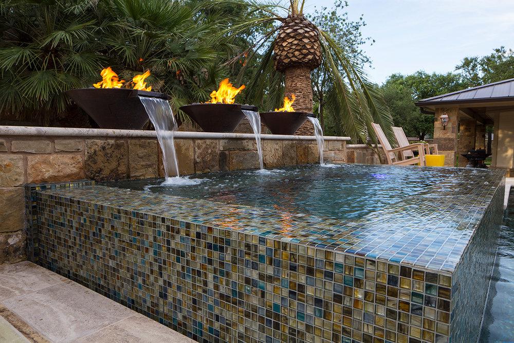 Water Fire Features Custom Pool Builders Austin Water Designs