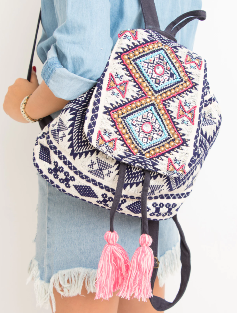 Purple Bead Embellished Backpack.png