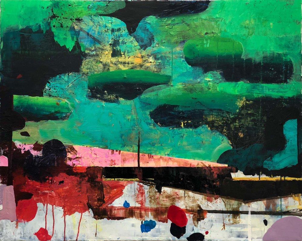 Enplansdrömmar grön / One-Storied Dreams Green 60x80 cm