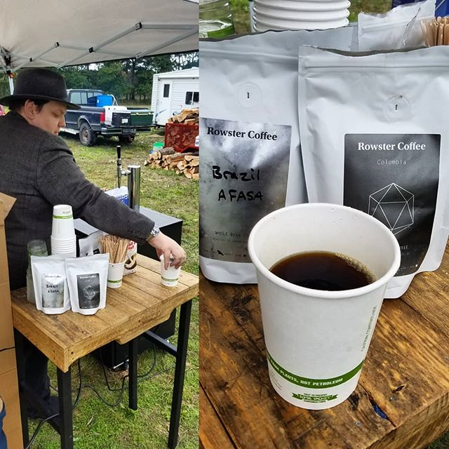 Come out and warm up with @rowstercoffee at Willowsong 2018!  Hot and cold brew options available!  #Willowsong2018  #rowsters