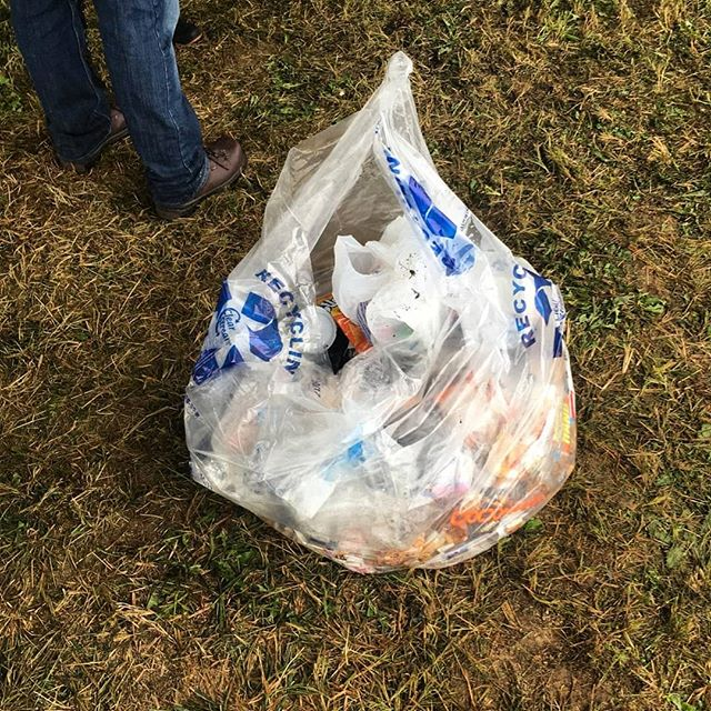 After a weekend of music and fun, we generated 4 bags of recycling, 3 bags of compost, and only a single bag of landfill!  #Willowsong2018