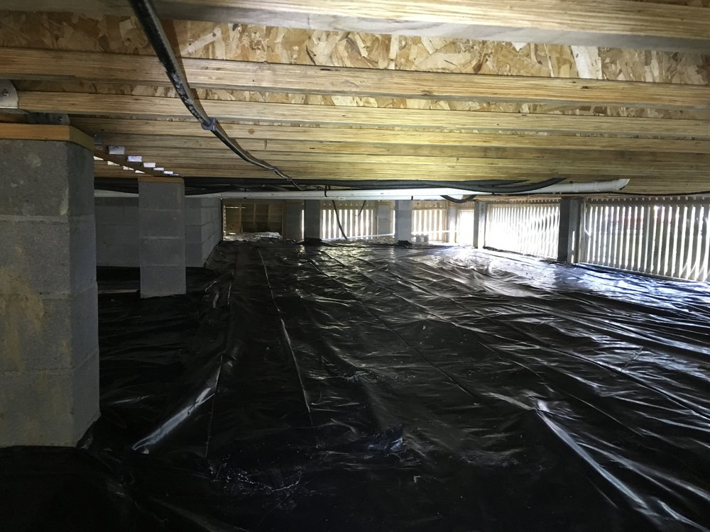 A VERY well ventilated crawlspace with a vapor barrier that was properly installed providing maximum protection.