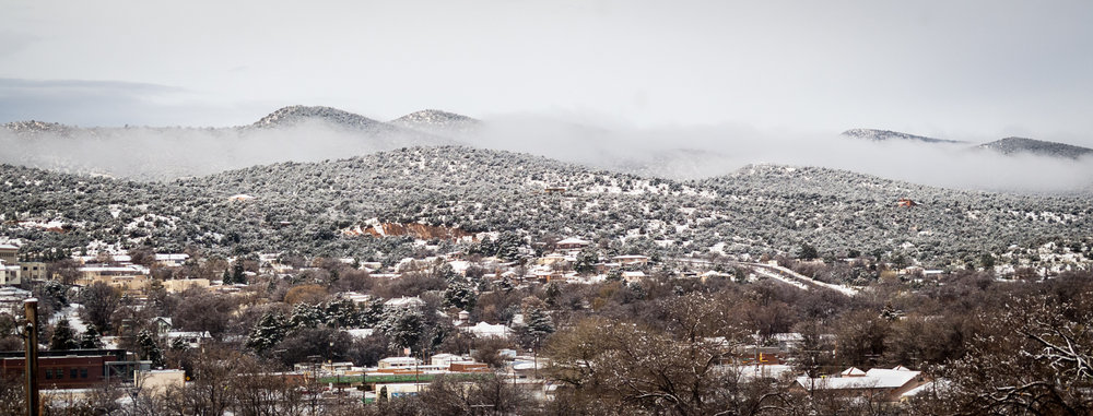 snow in Silver City