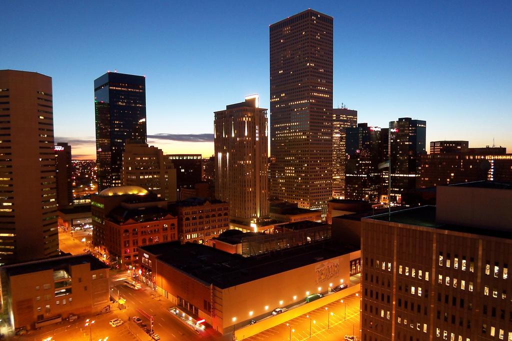 Denver Colorado at Sunrise