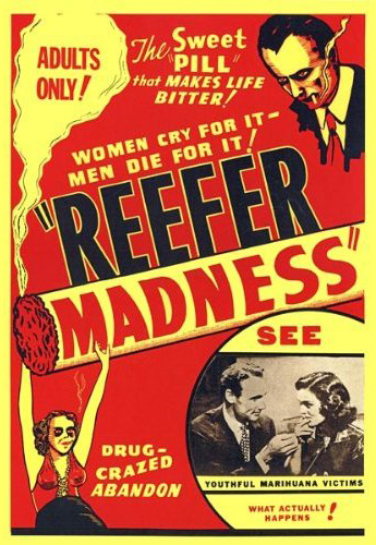 1970s theatrical poster for the film Reefer Madness