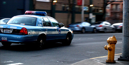Police Car Downtown Seattle Patrol