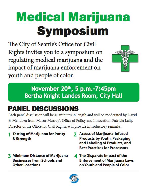 City of Seattle MMJ Symposium Flyer Nov 2oth
