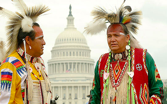 Native Americans at The US Captiol