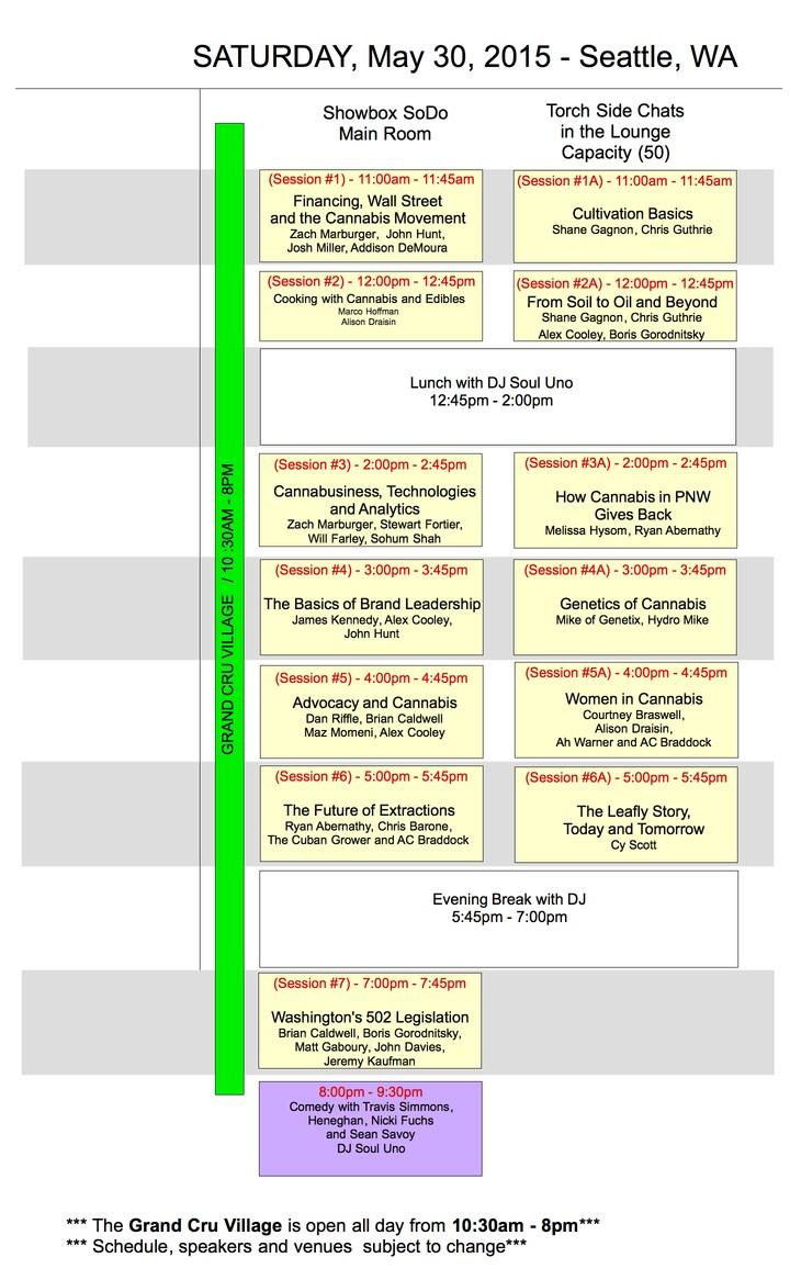 Cru Schedule