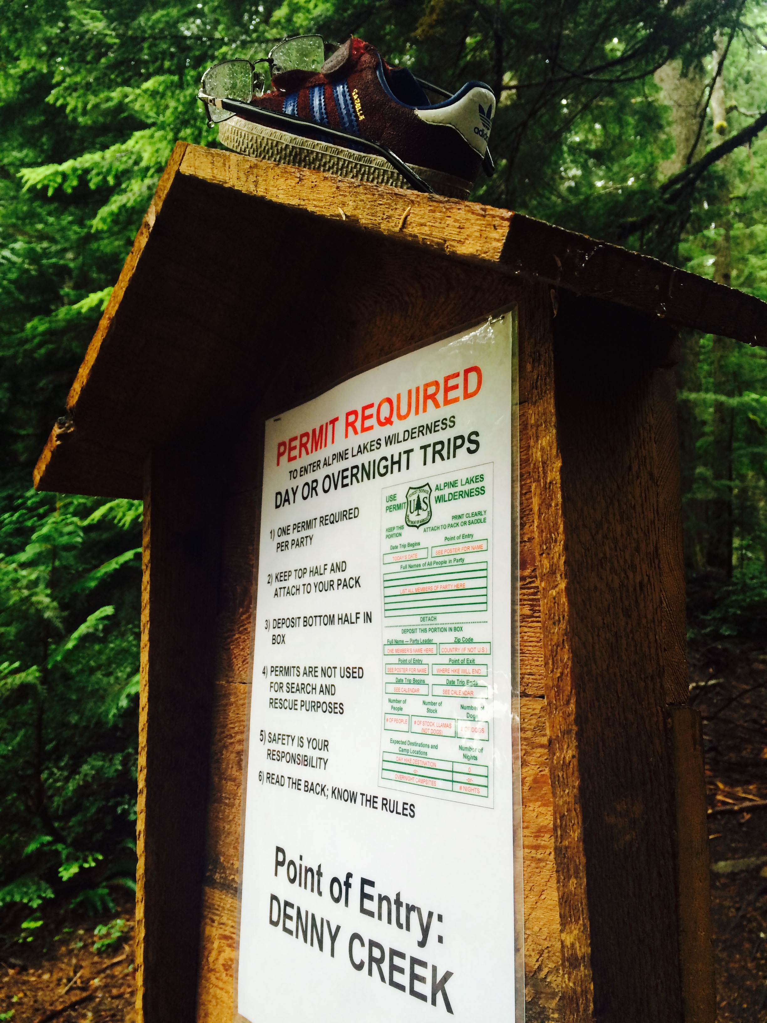 Denny Creek Point of Entry Sign Permit Information