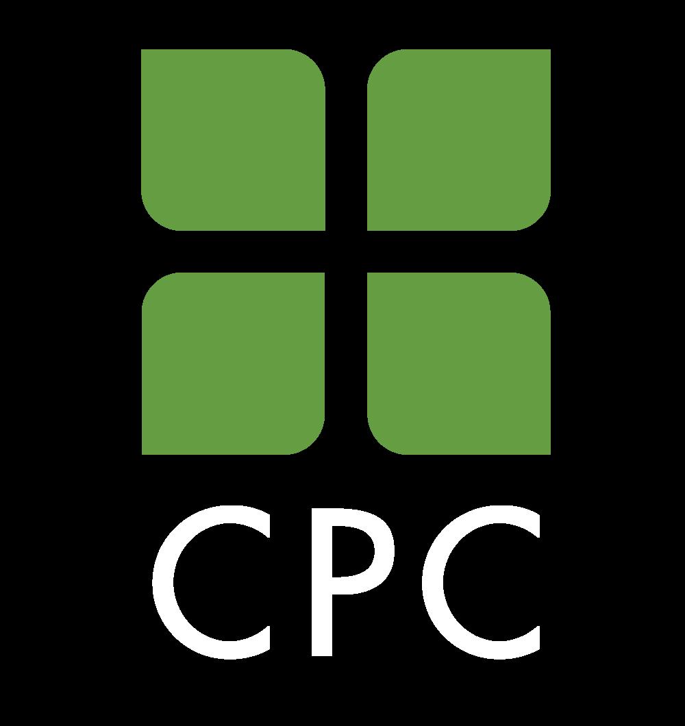 CPC logo white text