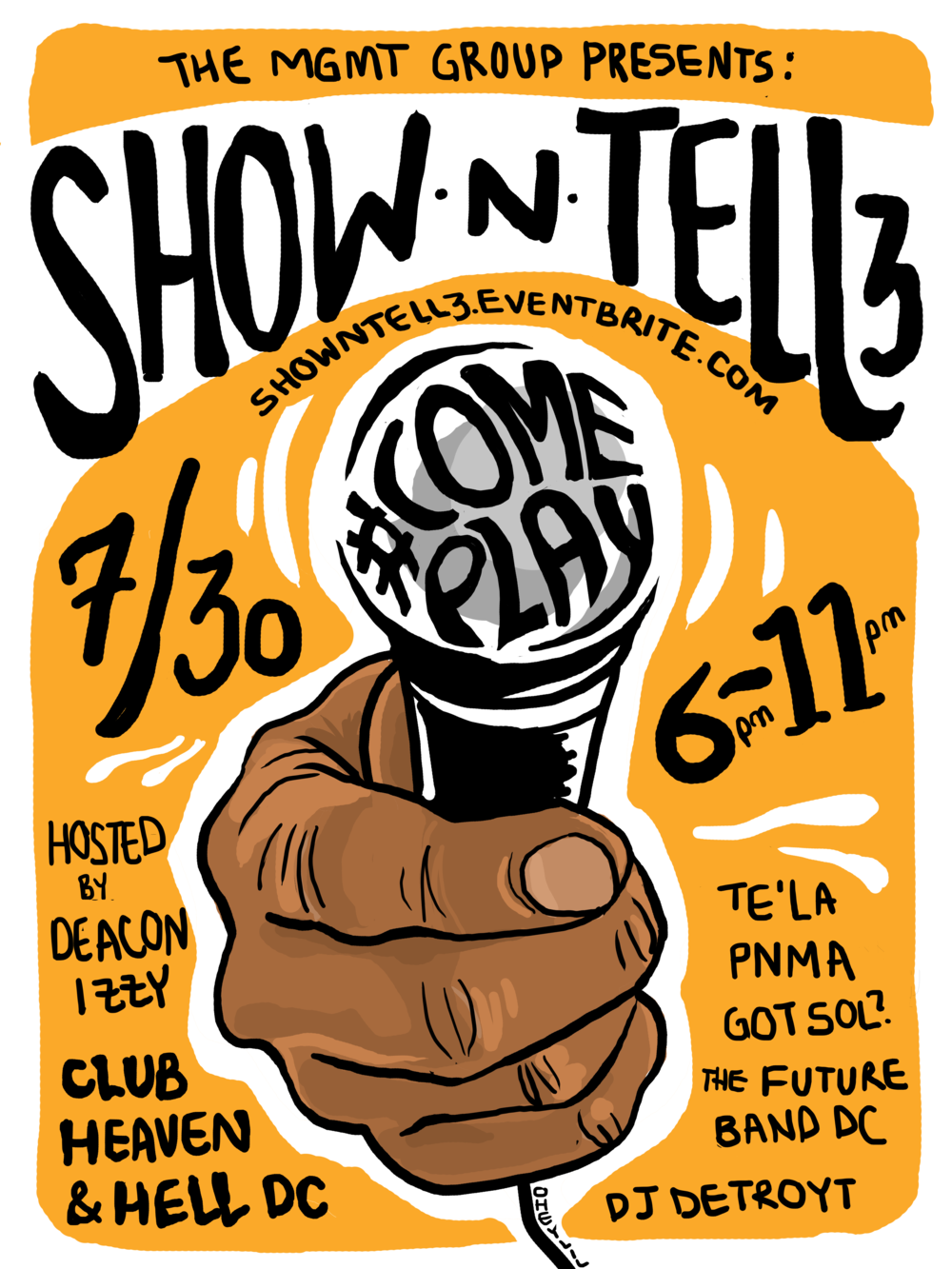 Show N' Tell 3: An Independent Artist Showcase #ComePlay