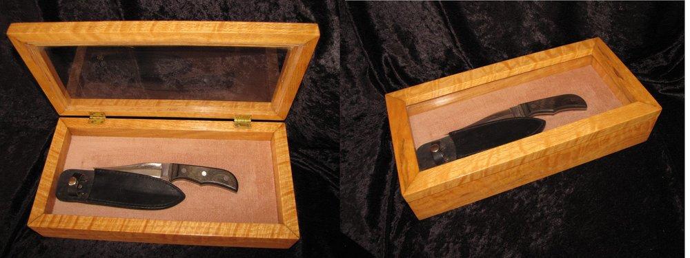 Parker Knife in Curly Oak
