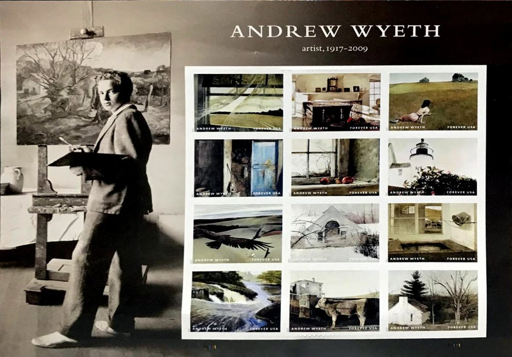 Andrew Wyeth Postage Stamps