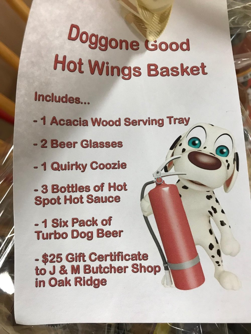 Doggone Good Hot Wings Basket