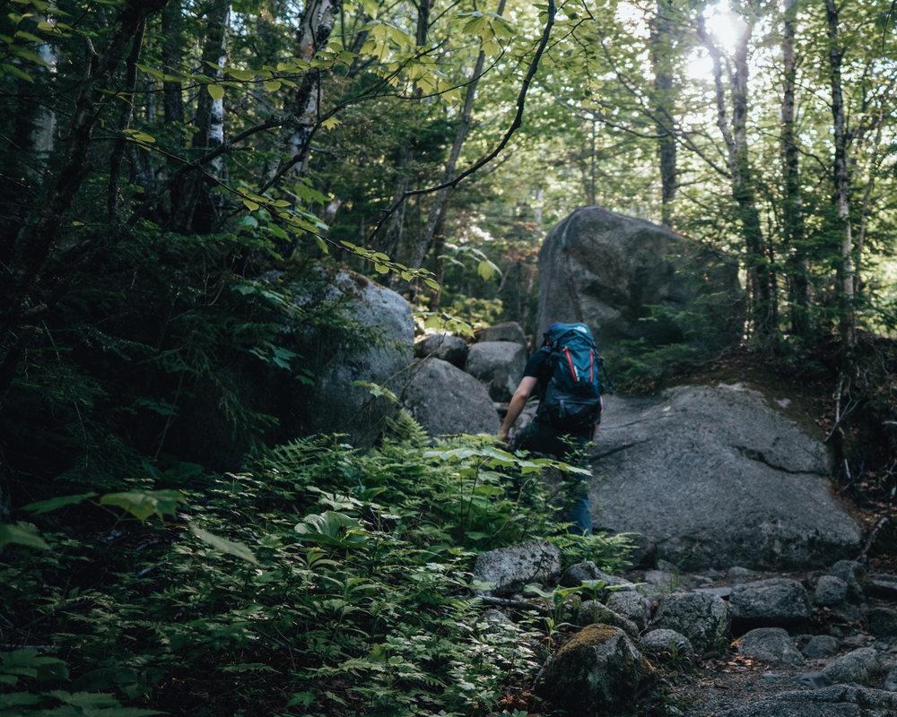 Mount Katahdin Abol trail hiking