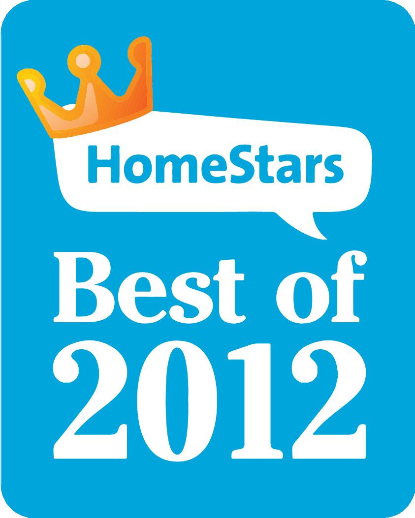 Winner - HomeStars Best of 2012