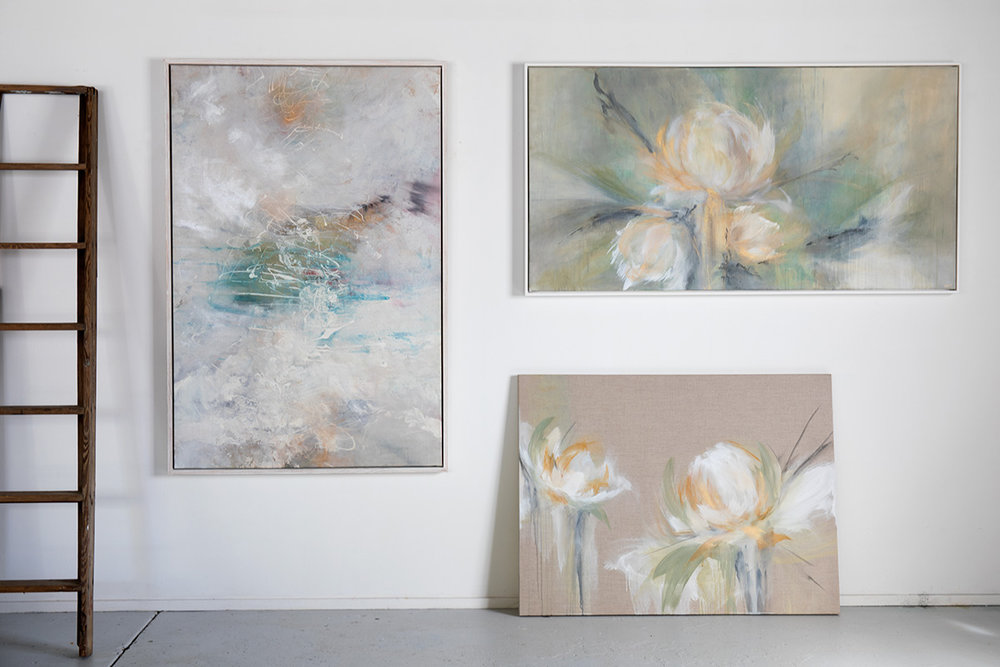 Floral Impressions 1-3;  100 x 150 , 160 x 80 & 120 x 90