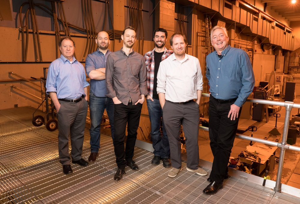 CFS Co-Founders (left-to-right): Martin Greenwald, Dan Brunner, Zach Hartwig, Brandon Sorbom, Bob Mumgaard, and Dennis Whyte. Photo credit  Bryce Vickmark .