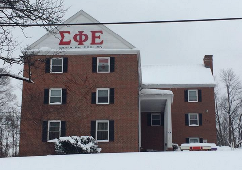 "2.  Sigma Phi ""Sig Ep"" Epsilon –   This second rate men's locker room disguised as a mansion can house up to 150 fraternity brothers, just as many pairs of Timberland boots, and twice as many pairs of sweatpants. But under a graceful layer of snow, Sig Ep's constant reminder of perceived dominance doesn't look like so menacing…it actually looks kind of…magical."
