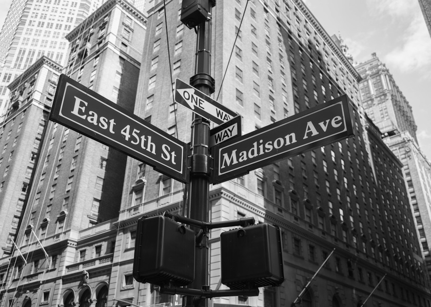 Madison Avenue, where New York ad dreams are made… and shattered.