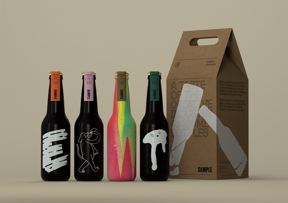The limited edition RARE Sample was brewed using data that demonstrates the lack of diversity in the creative industry, for RARE Sydney 2017.