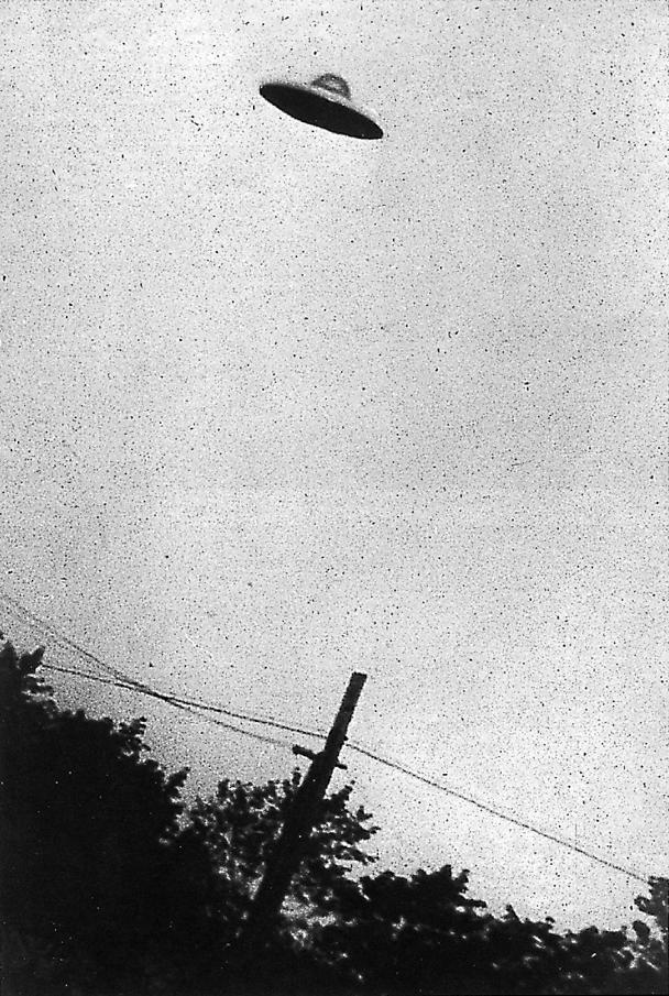Alleged first photograph of a UFO taken in Passiac, NJ in 1952.