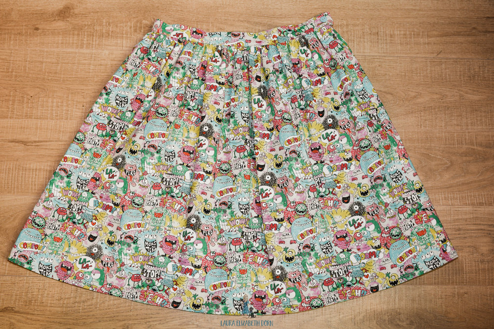 Mondays are for Monsters skirt - Size 12