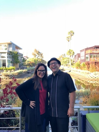 Nely and I at the Venice Canals.