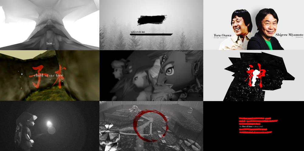 A moodboard created from the final video.
