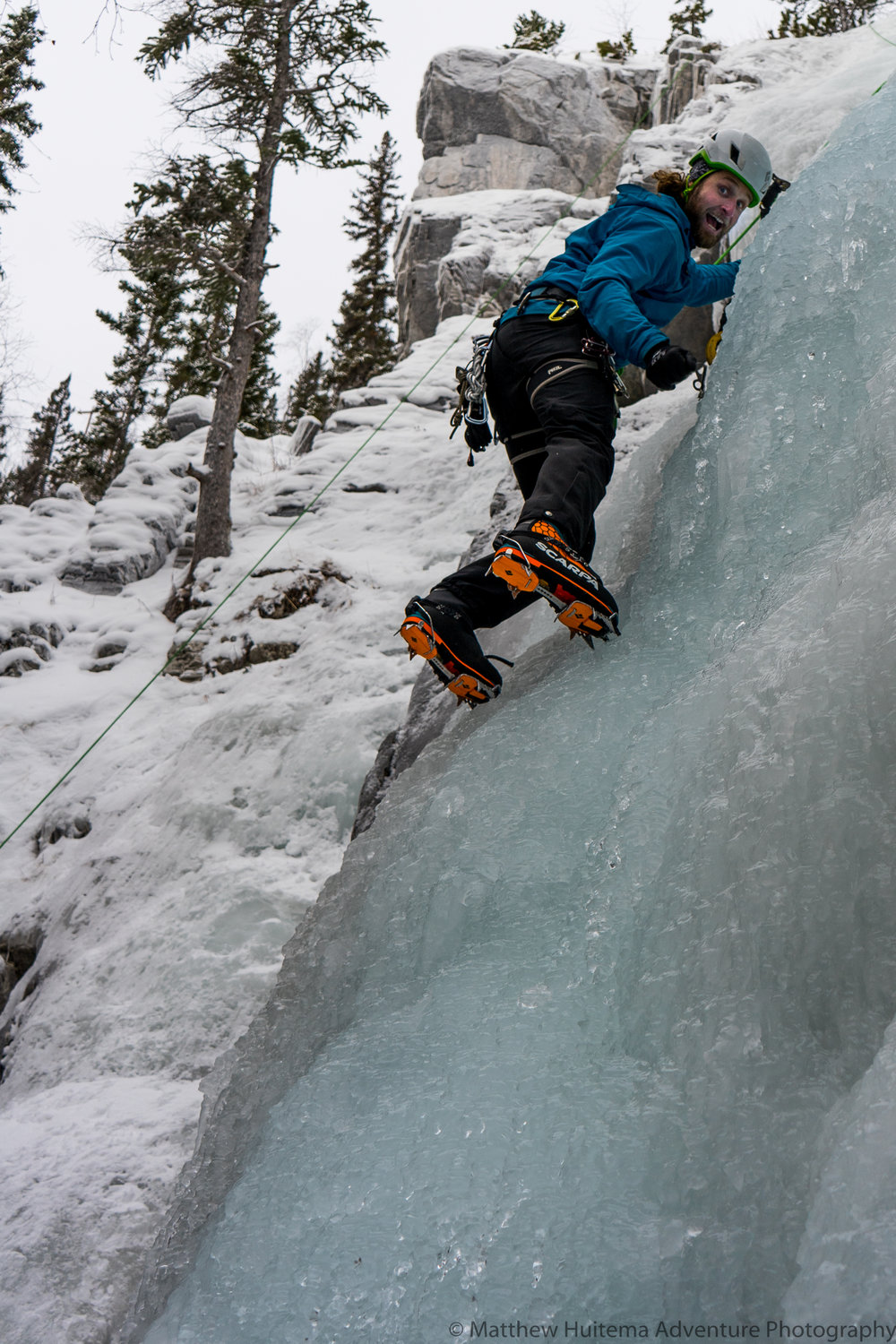 Ice Climbing at The Junkyards