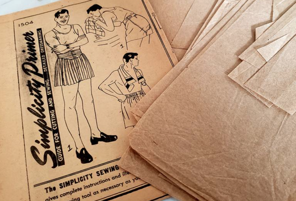 Repairing vintage sewing patterns - Proceeding with caution