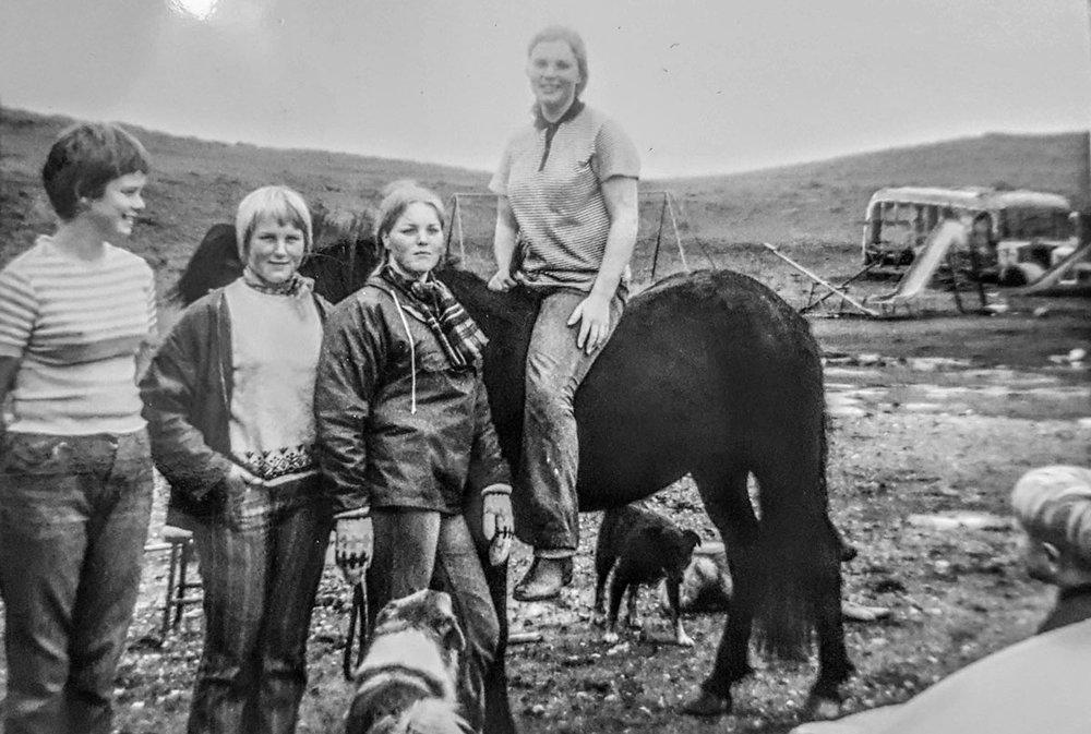 1970 - Rúna, Ásta, Gunna, Dísa