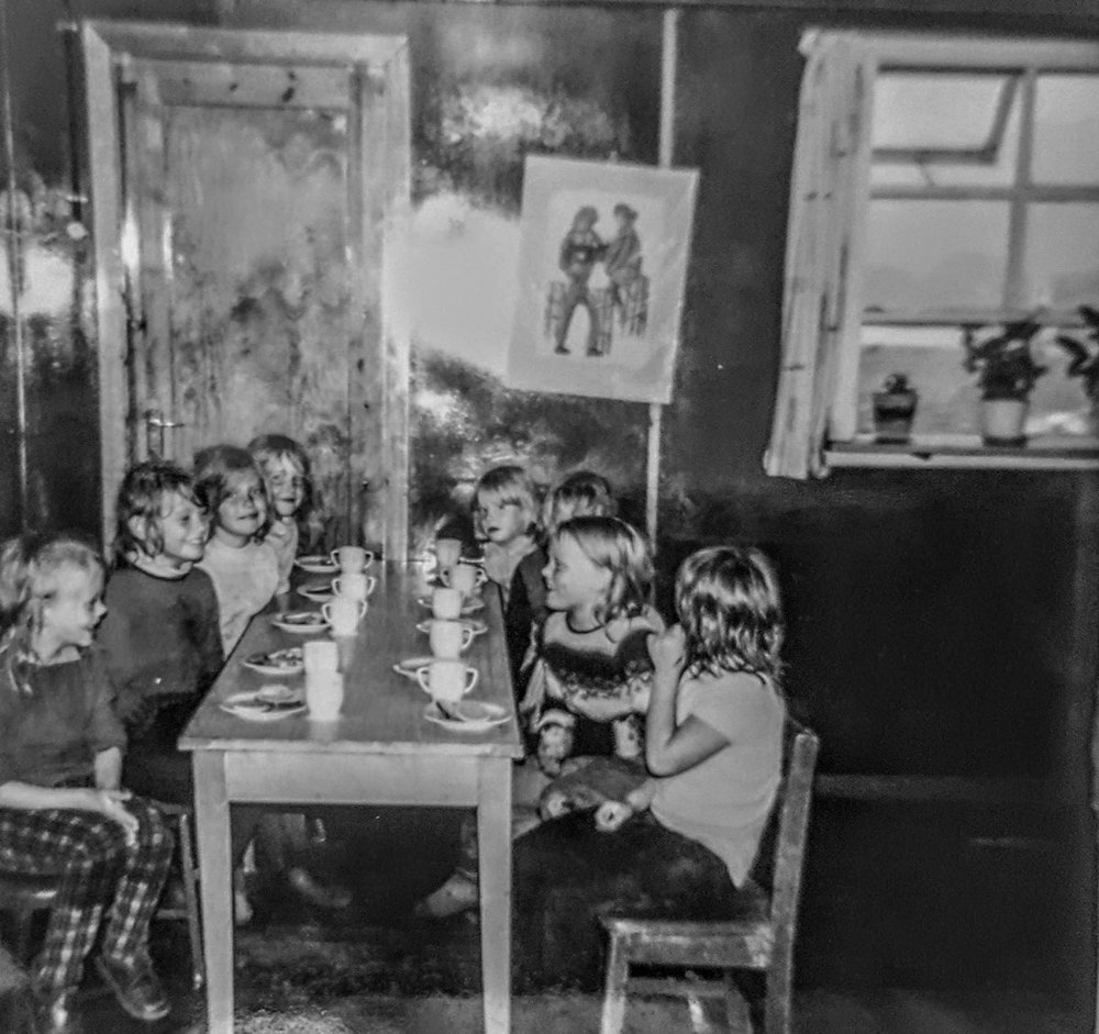 1970 - 2. deild - Helga, Viktoría, Hulda, Sigurbjörg, Gunna, Lára, Aldís