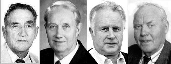 Deildarstjórarnir f.v. Eiríkur Jónsson, Ingólfur Bjarnason, Jón Ólafsson og Sveinn Skúlason