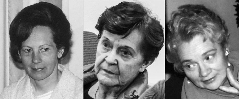 Margrét Guðmundsdóttir, Jóna Ólafsdóttir og Guðný Guðmundsdóttir