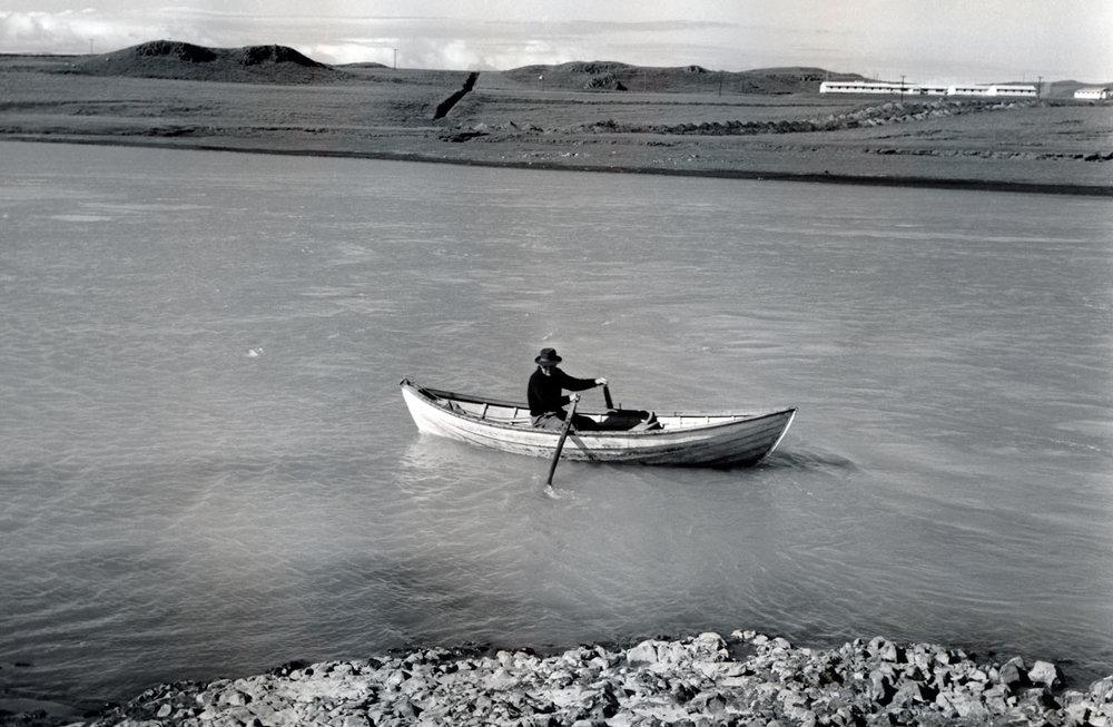 Loftur Bjarnason, ferjumaður (mynd frá Iðu)