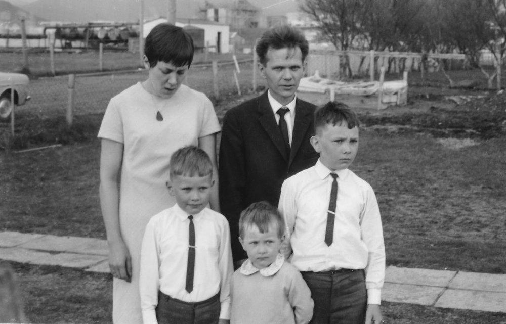Fjölskyldan í Lyngási 1969 (mynd frá IB)