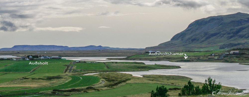 Auðsholt og Auðsholtshamar (2008) (mynd pms)