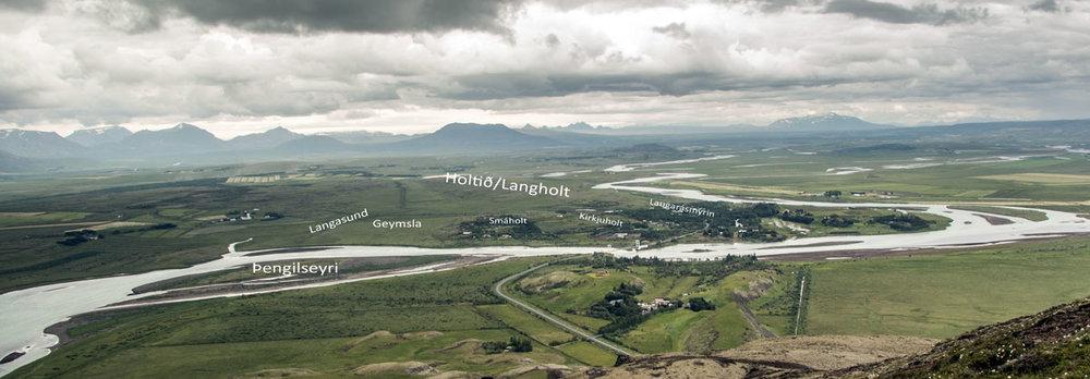 Yfirlitsmynd tekin af Vörðufelli. (mynd pms)