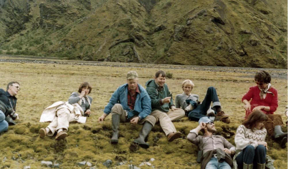 Sverrir, Elsa, Gunnar, Sævar, Helgi, Hilmar, Guðbjörg og Katý